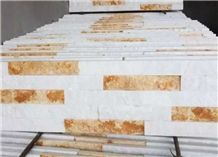 White and Yellow Natural Culture Stone,Culture Stone Slate,Culture Stone Tiles,Wall Panel,Stone Wall Cladding
