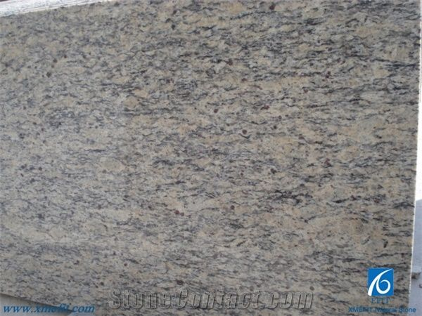 Giallo Santa Cecilta Yellow Light Granite Slabs Tiles Brazil Hot Good Price Cecilia