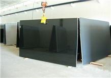 Jet Black Granite Slabs & Tiles, India Black Granite