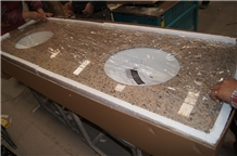 New Venetian Gold Granite Bathroom Vanity Tops
