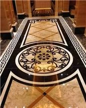 Marble Stone Waterjet Medallions, Waterjet Patterns Flooring Tiles