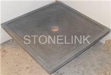 Slsh-002, Honed Black Granite Shower Tray, Square Shower Tray