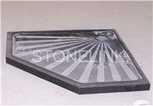 Slsh-004, Black Granite Shower Trays, Black Granite Shower Bases
