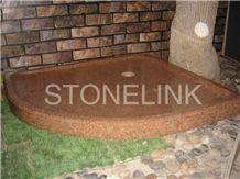 Slsh-008, Brown Granite Shower Trays