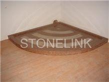 Slsh-009, Brown Granite Shower Tray