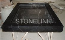 Slsh-011, Nero Marquina Marble Shower Tray