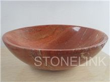 Slsi-165,Red Marble Basin & Sink, Countertop Basin