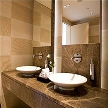 Bathroom Sink Marble, Emperador Light Brown Marble Sinks & Basins