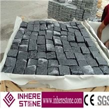 G654 Dark Grey Granite Pavers, Tumbled Cube Stone, Cobble Stone for Outside