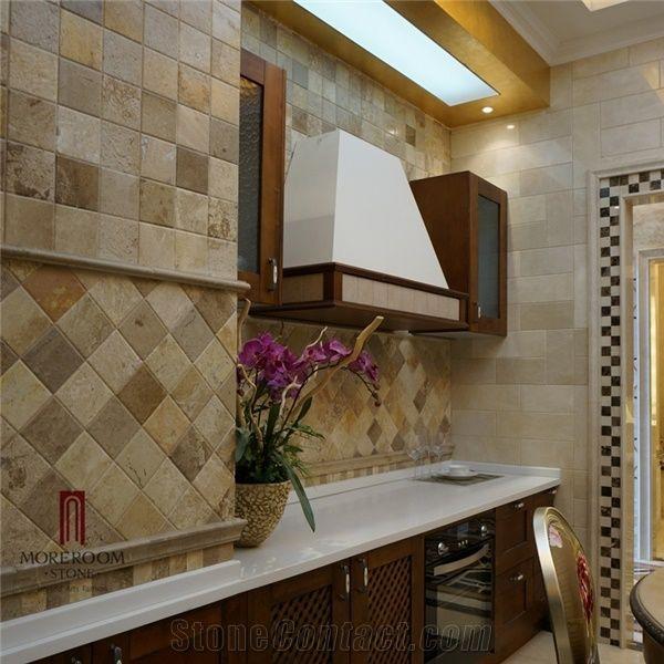 Beau Spain Beige Marble Crema Marfil Stone Tiles Kitchen Wall Tiles Marble  Kitchen Pictures Kitchen Decor Kitchen Design Medallion Bathroom Wall Til  Picture