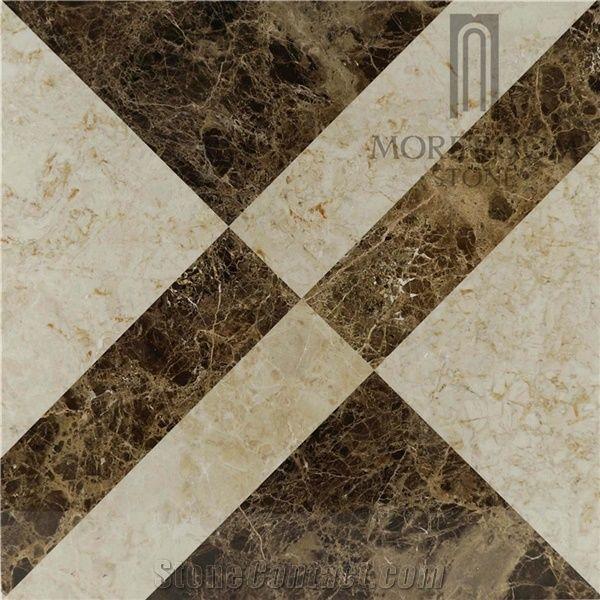 Spain Marble Tiles Price Dark Emperador Marble Polished Marble
