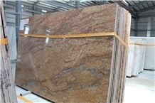 African Giallo Granite Slab/Tile, African Juparana Granite Slab/Tile, Multicolor Golden Granite Slab/Tile