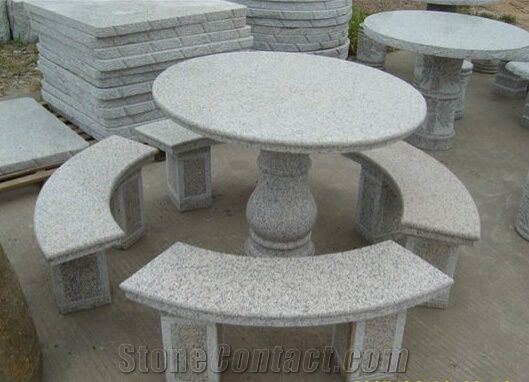 Natural Granite Stone Table And Chair Granite Bench And