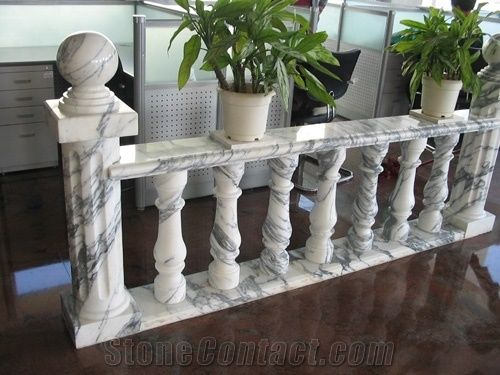 Natural Marble Stone Balusters White Marble Balustrade