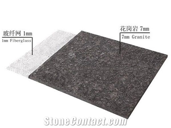 Ultra Thin Granite Reinforced Fiberglass From China
