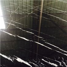 Nero Marquina Marble Tiles & Slabs, Black Marble Tiles & Slabs