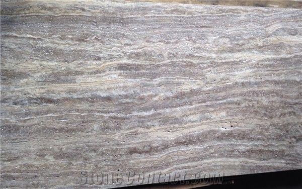 Silver Travertine Vein Cut Grey Travertine Tiles Slabs