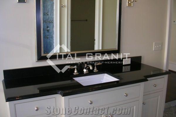 Angola Black Granite Bathroom Vanity Top From Kosovo Stonecontact Com