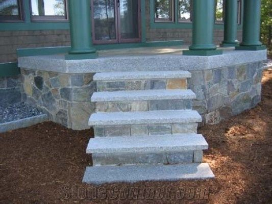 Stanstead Grey Split Face Step Treads from Canada