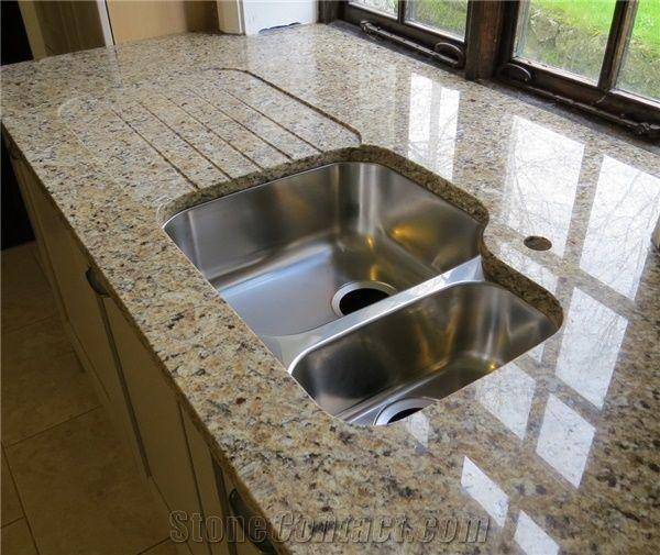 Giallo Santa Cecilia Granite Countertop Yellow Granite Kitchen