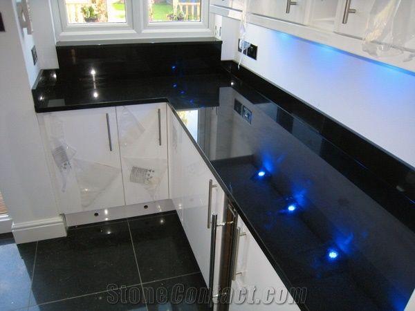 Merveilleux Nero Assoluto Granite Kitchen Bench Top, Black Granite Kitchen Countertop  Zimbabwe