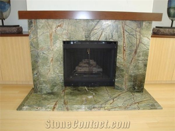rain forest green marble fireplace surround from poland 395895 rh stonecontact com update green marble fireplace update green marble fireplace