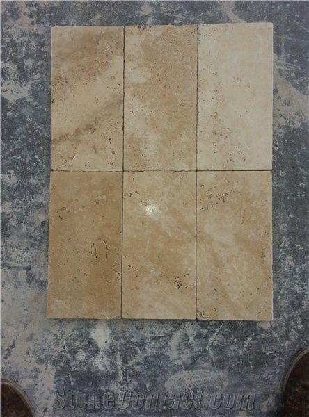 Classic Travertine Tumbled Tiles Slabs Beige Travertine Flooring