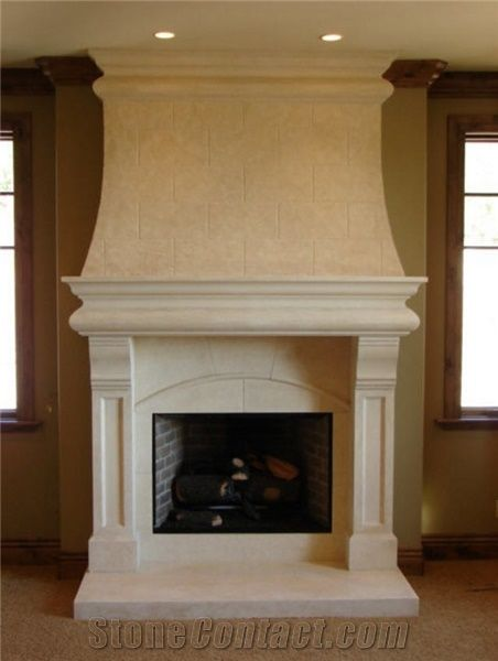 Custom Hand Crafted Limestone Fireplace Surrounds And Mantels