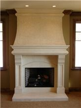 Custom, Hand Crafted, Limestone Fireplace Surrounds and Mantels