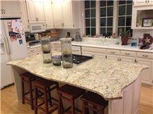 Absolute Cream Granite Kitchen Island Top, Beige Granite Kitchen Countertops Brazil