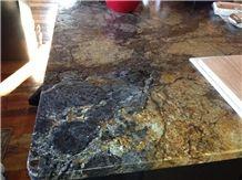 Exotic Black Forest Gold Granite Kitchen Countertops