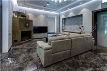 Golden Black Marble Floor Tiles, Black Granite for Floor Covering Tiles Iran
