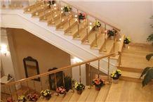 Yellow Travertine Stairs, Steps