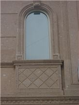 Cafe Cantera Sandstone Arches, Frames, Building Stones, Brown Sandstone for Building