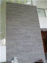 Cantera Gris Michoacan Sandstone Feature Wall, Stacked Wall, Grey Sandstone Cultured Stone