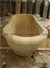 Stylish Beige Marble Bathtubs Collection