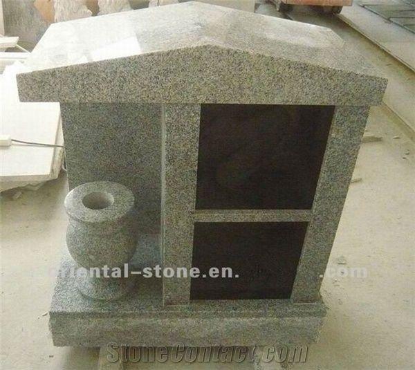 2 Niches Family Cremation Columbarium China Grey Granite