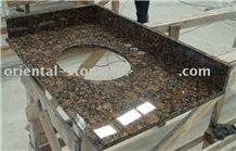 Baltic Brown Granite Vanity Top, Kitchen Bathroon Polished Countertops & Vanity Tops with Splash