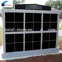 China Black Granite Cremation Columbarium Design, Niches Columbariums