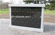 China Black Granite Cremation Columbarium, Grey Granite Mausoleums Crypts Design, Niches Cemetery Columbariums, Shanxi Black Granite Cremation Columbarium