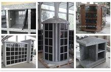 China G603 Granite Cremation Columbarium, Shanxi Black Stone Niches Urns Columbariums, Cemetery Mausoleums Crypts Design