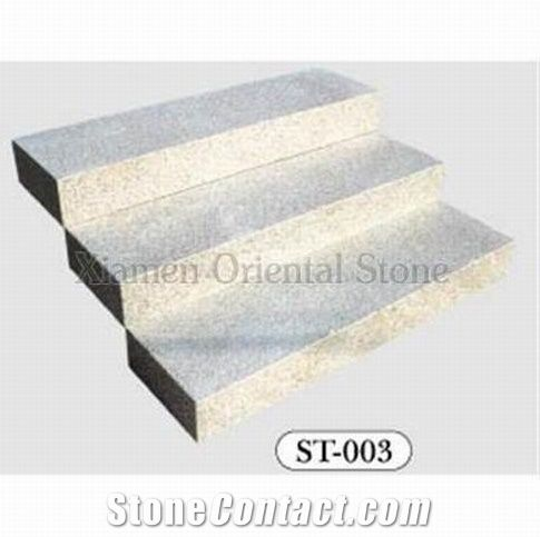 China Granite Steps Staircase, Outdoor Stone Stair Treads, Deck Stair,  Indoor Stair Riser, Bally White Granite Stair Treads