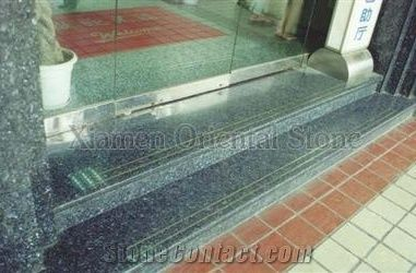 Granite Outdoor Steps Staircase Building Stone Stair Riser Indoor Deck Green Stones Treads