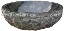 Natural Granite Marble Bathroom Oval Sinks, Stone Round Wash Basins, Solid Surface Vessel Sink, G679 Granite Wash Basins