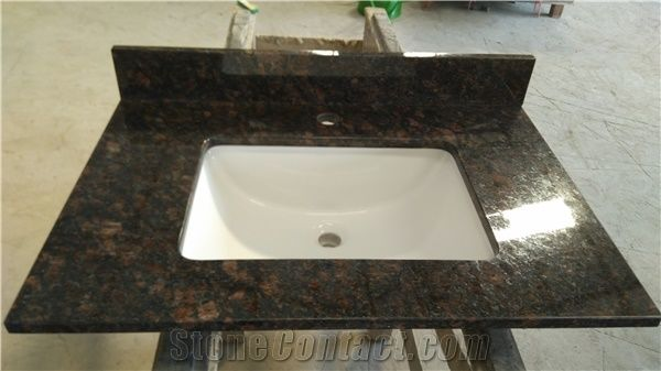 Astonishing Tan Brown Granite Vanity Top Bathroom Top Counter Tops Home Interior And Landscaping Eliaenasavecom