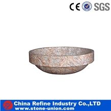 Customized Design Commercial Wash Basins, Pink Marble Wash Basins, Stone Sinks and Basin