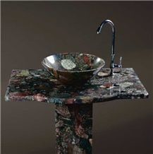 Gatherstones Granite Pedestal Sinks & Basins, Round Sinks, Wash Bowls