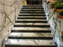 Arabescato Marble China Steps, Green Marble Steps