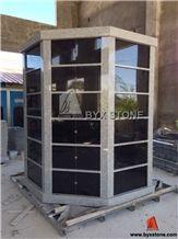 72 Niches Octagonal Shape Granite Columbarium