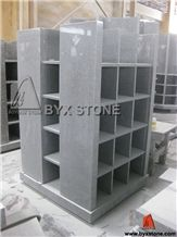 Square Shape G633 Granite Columbarium with 40 Niches